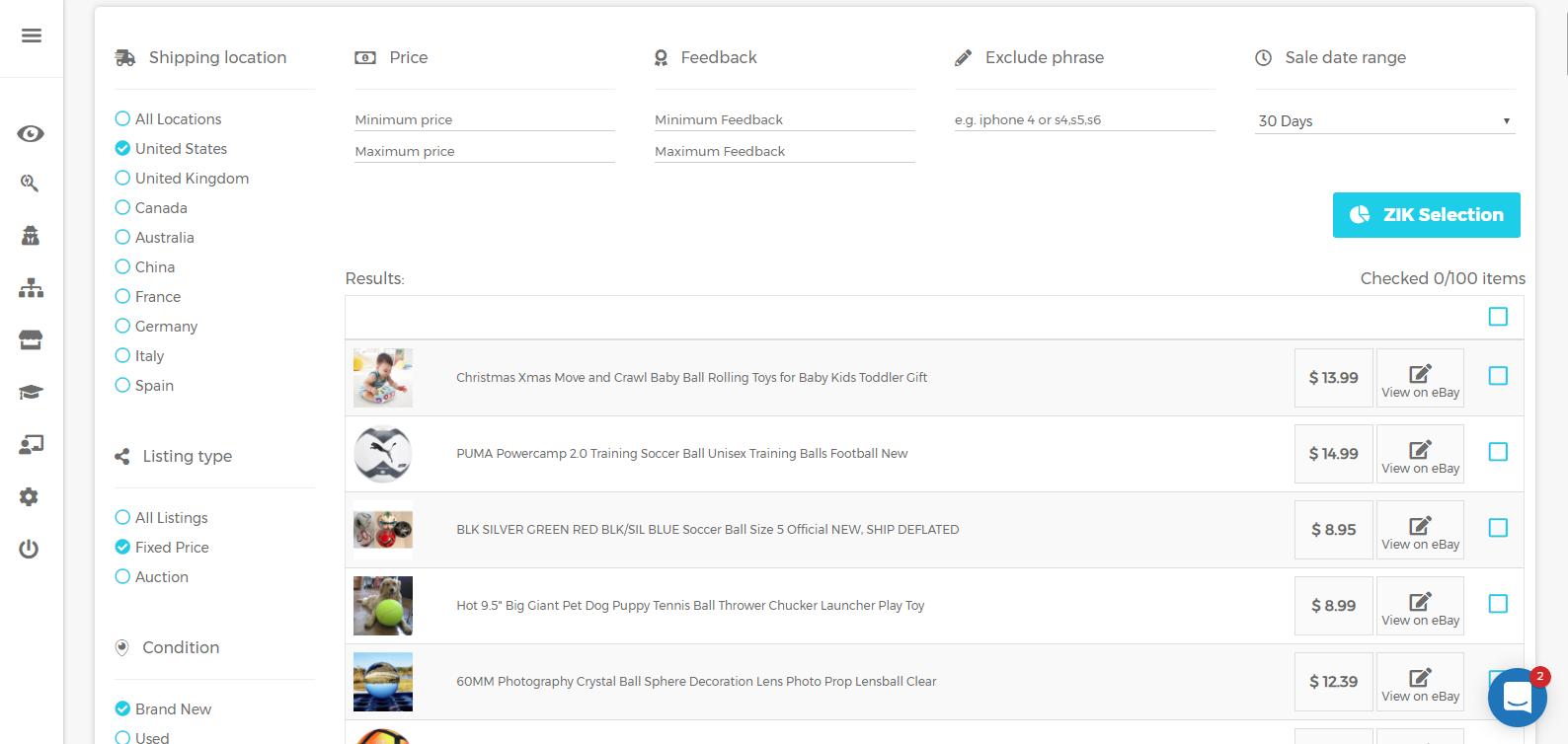 Zik Analytics products page
